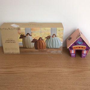 New Halloween Decorations Bundle Ceramic Pumpkins